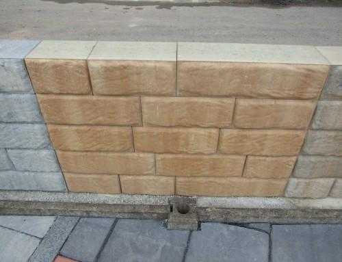 Trockenmauer Sandstein